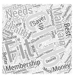 Fitness club word cloud concept vector