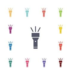 flashlight flat icons set vector image