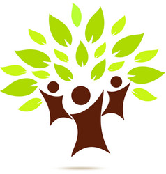 Green family for ECO concept vector image