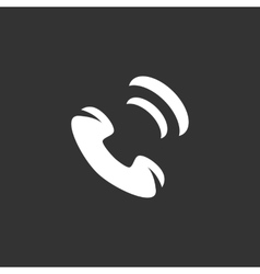 Phone Icon logo element for template vector image