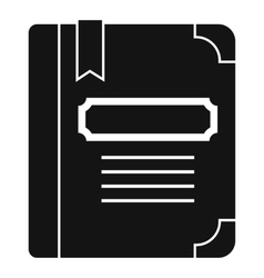 Tutorial with bookmark icon simple style vector