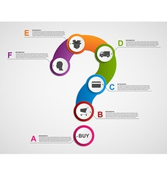 Abstract infographic in the form of question mark vector image