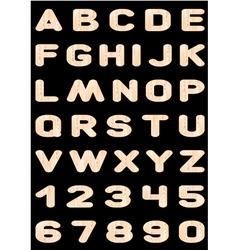 Alphabet wooden letters vector