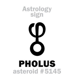 Astrology asteroid pholus vector