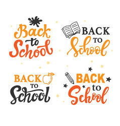 back to school banner templates set vector image