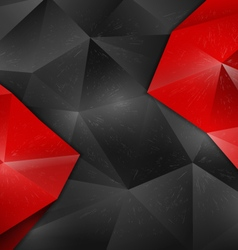 background abstract polygon design red vector image