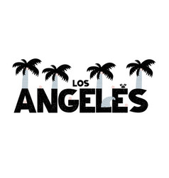 banner with lettering los angeles in scandinavian vector image