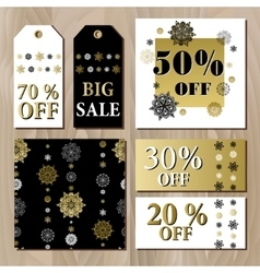 Big sale printable card template with golden vector image