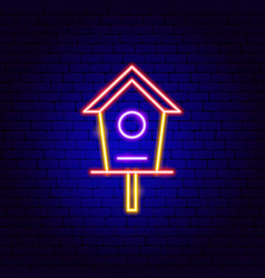 bird house neon sign vector image