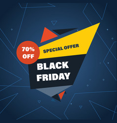Black friday discount special offers on shopping vector