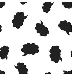 blank empty speech bubble icon seamless pattern vector image