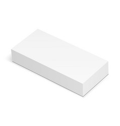 Blank rectangular box mockup isolated vector