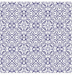 blue lace seamless pattern vector image