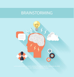 Brainstorm process concept in flat design vector image