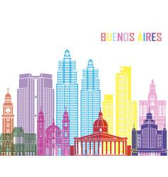 Buenos aires v2 skyline pop vector