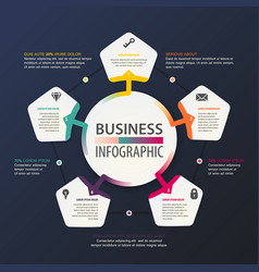 Business infographic work and information scheme vector