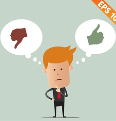 Business man thinking choice - - eps10 vector