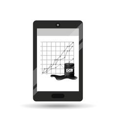 Business oil smartphone economic graph vector