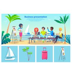 business presentation seaside vector image