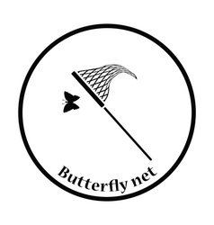 Butterfly net icon vector image