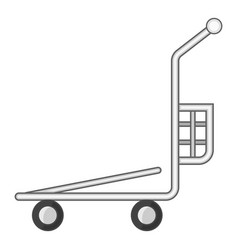 Cargo basket shopping cart icon cartoon style vector