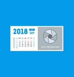 cartoon calendar event planner 2018 september vector image