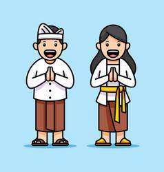 cartoon comical character bali kids vector image