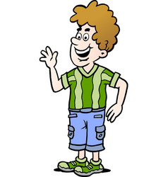 Cartoon of a man there is wearing a casual clothes vector