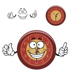 Cartoon wall clock with hands vector image