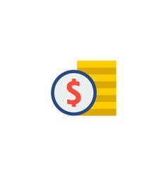 cash stack icon flat element vector image