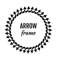 circle frames or borders made of arrows symbols vector image
