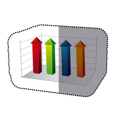 Color business data statistic graphic vector