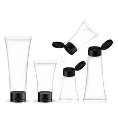 cosmetic transparent tube for cream gel foam vector image