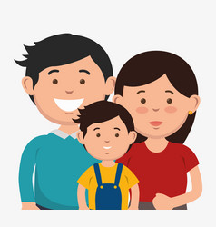Couple and kid design vector