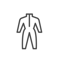 Coveralls line icon vector