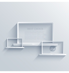 Creative flat laptop background Eps 10 vector
