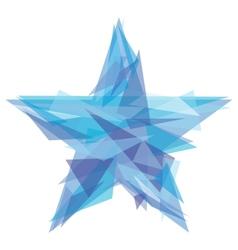 Creative polygon star vector