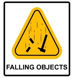Danger Falling Objects Warning sign vector image