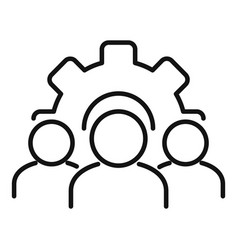 Development collaboration icon outline style vector
