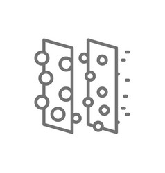 Dirty air filtration line icon isolated on white vector