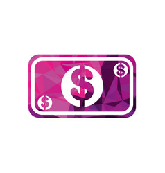 dollar money cash banknote financial business vector image