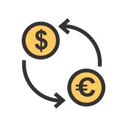 Dollar to Euro Convert vector