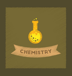 Flat shading style icon chemistry lesson vector