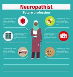 Future profession neuropathist infographic vector