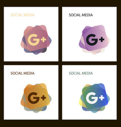 Google plus icons on white background vector