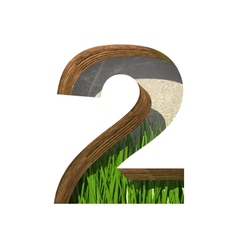 Grass cutted figure 2 Paste to any background vector