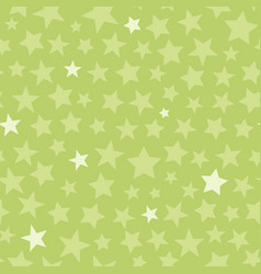 green monotone stars seamless pattern vector image