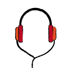 Headphones technology volume music listen vector