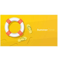 hello summer season background vector image