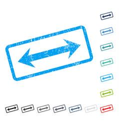 Horizontal flip icon rubber watermark vector